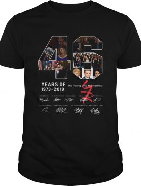 46 years of The Young and the Restless 1973 2019 shirt
