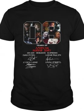 8 Years of American Horror Story 2011 2019 shirt