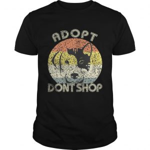 Adopt Don't Shop Vintage For Pet Lovers-Cat And Dog T-Shirt