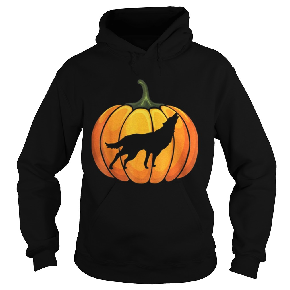 Awesome Wotf Pumpkin Halloween T Animal Lover Gifts Hoodie