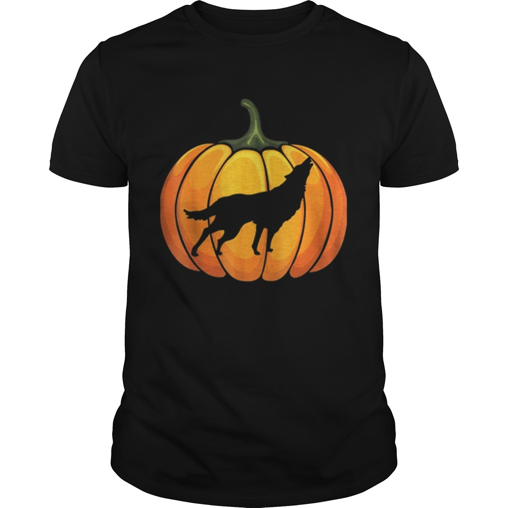 Awesome Wotf Pumpkin Halloween T Animal Lover Gifts Unisex