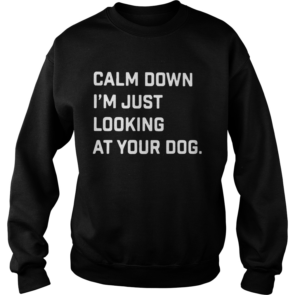 Calm down Im just looking at your dog Sweatshirt