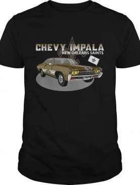Chevy Impala 1967 New Orlean Saints shirt