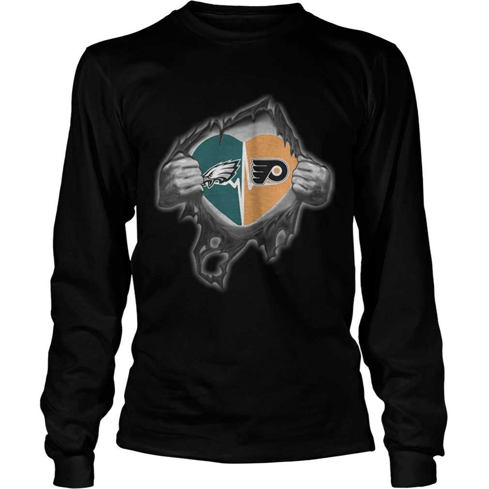 Eagles Flyers Its in my heart inside me LongSleeve