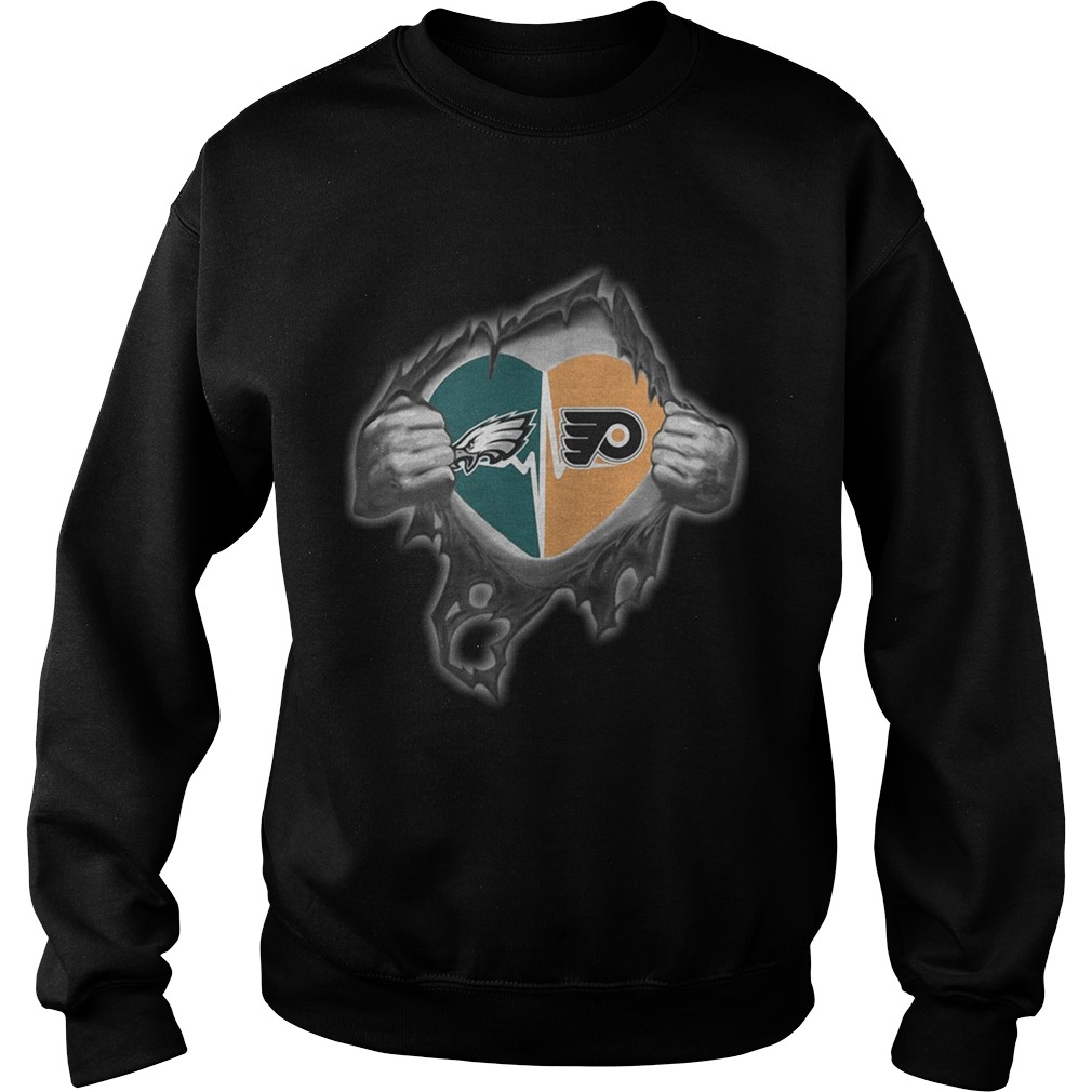 Eagles Flyers Its in my heart inside me Sweatshirt