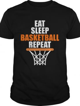 Eat sleep basketball repeat shirt