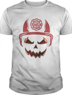 Halloween Pumpkin Firefighter Fireman Fire t-shirt