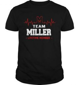 Heartbeat M team Miller lifetime member t-shirt