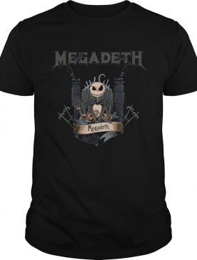 Jack Skellington Megadeth Halloween shirt