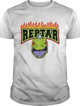Reptar Fire Text With Reptars Head shirt