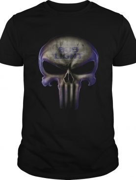Skull Bud Light shirt
