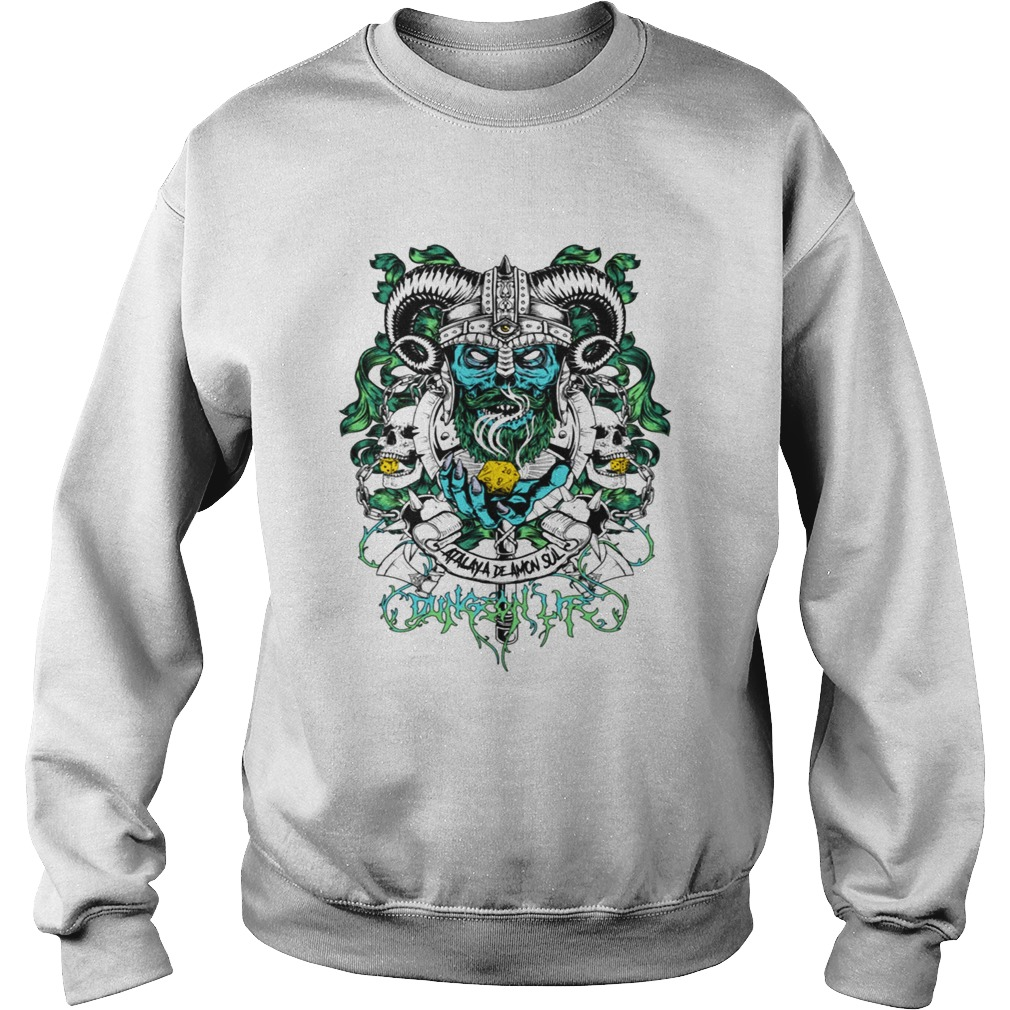 Skull warrior dungeon life t Sweatshirt