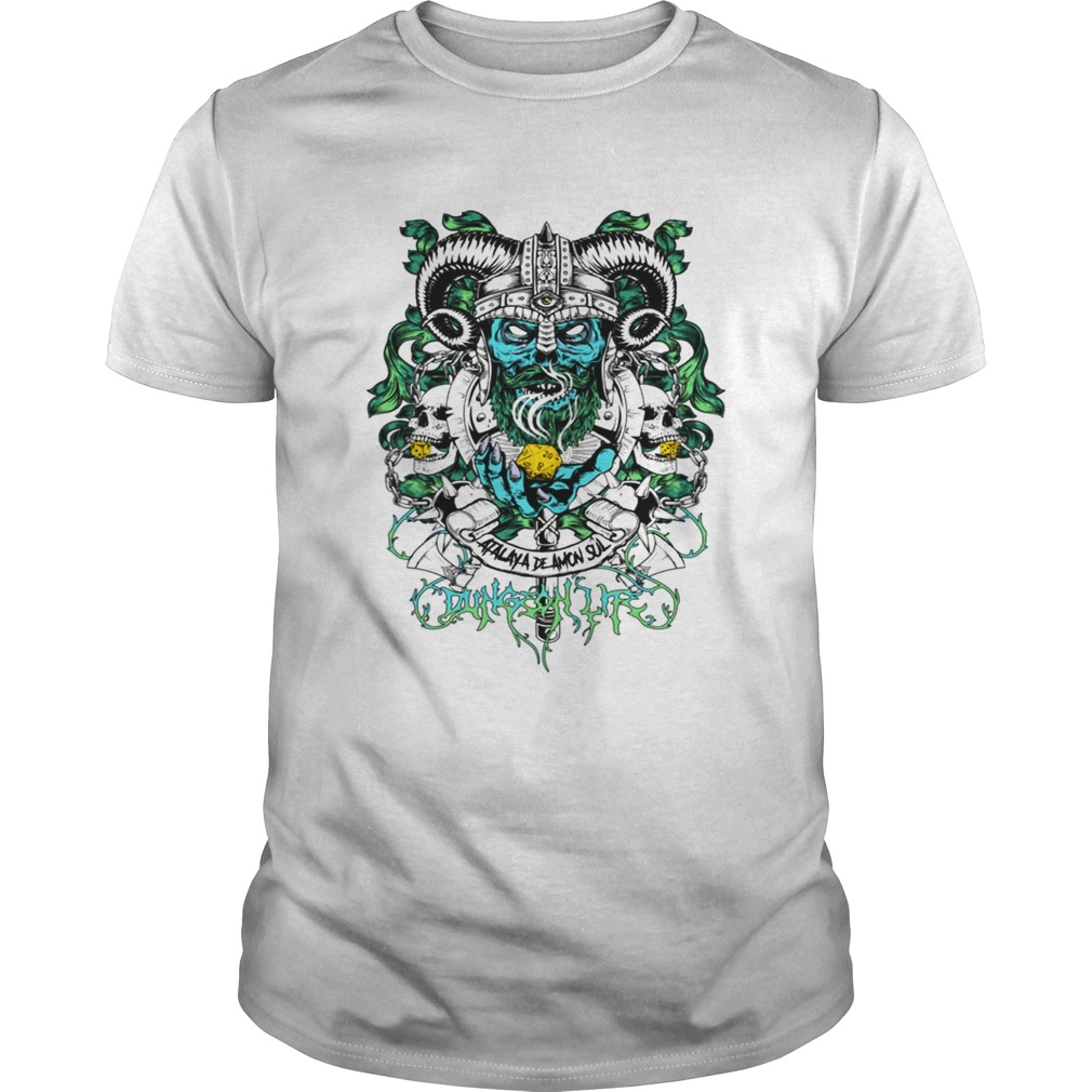 Skull warrior dungeon life t Unisex