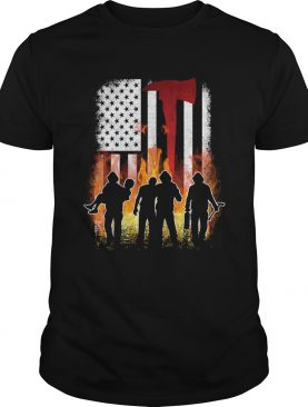 Thin Red Line Shirt Firefighter American Flag Axe T-Shirt