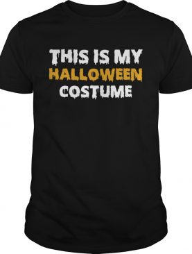 Vintage This Is My Halloween Costume T-Shirt
