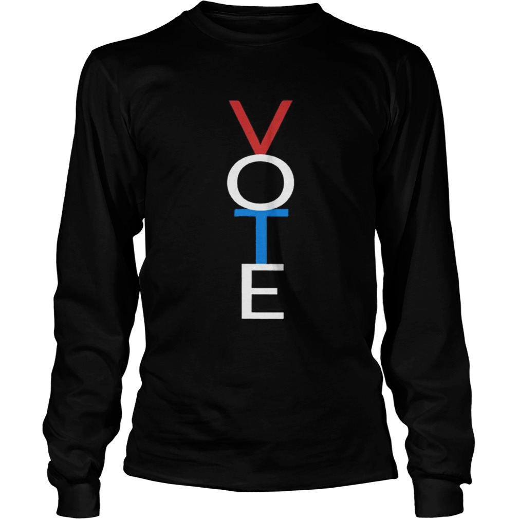 Vote Red White Blue Shirt LongSleeve
