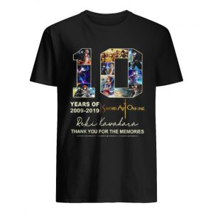10 years of 2009 2019 Sword Art Online thank you for the memories  Classic Men's T-shirt