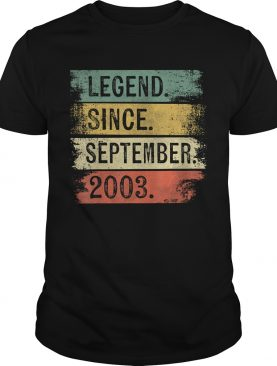 Legend Since September 2003 16th Birthday Gifts 16 Year Old T-Shirt