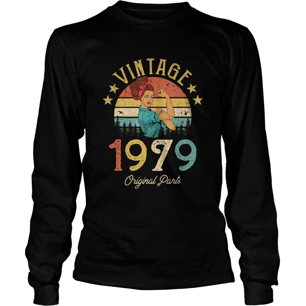 1568295305Vintage 1979 Made in 1979 40th Birthday 40 years old Gift T-Shirt LongSleeve