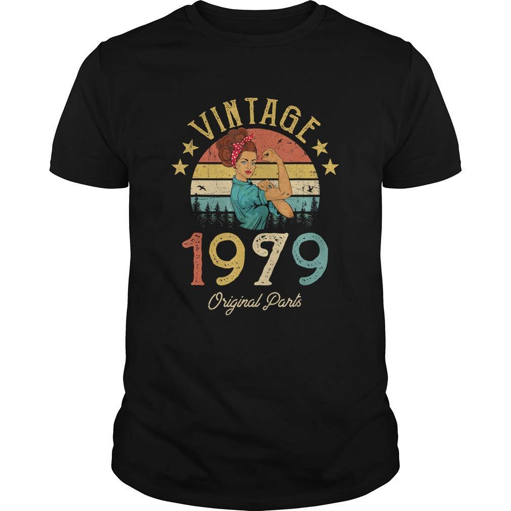 1568295305Vintage 1979 Made in 1979 40th Birthday 40 years old Gift T-Shirt Unisex