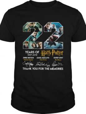22 years of 1997 2019 Harry Potter thank you for the memories shirt