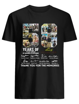 58 Years of The Beverly Hillbillies 1962 2020 thank you for the memories shirt