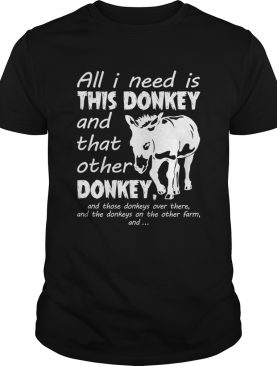 All I Need Is This Donkey And That Other Donkey Funny Women T-Shirt