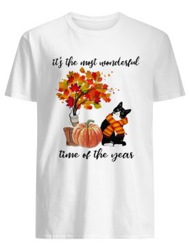 Bombay Cat Collie It's The Most Wonderful Time Of The Year Fall Autumn Maple Leaf Shirt