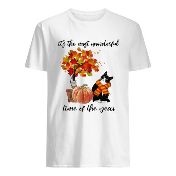 Bombay Cat Collie It's The Most Wonderful Time Of The Year Fall Autumn Maple Leaf Shirt Classic Men's T-shirt