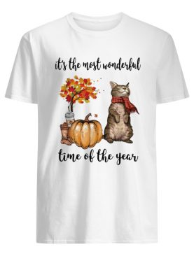 Cat and pumpkin it's the most wonderful time of the year shirt