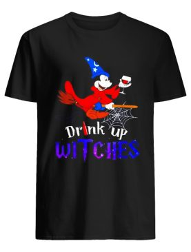 Drink up Witches Mickey Mouse wine Halloween shirt