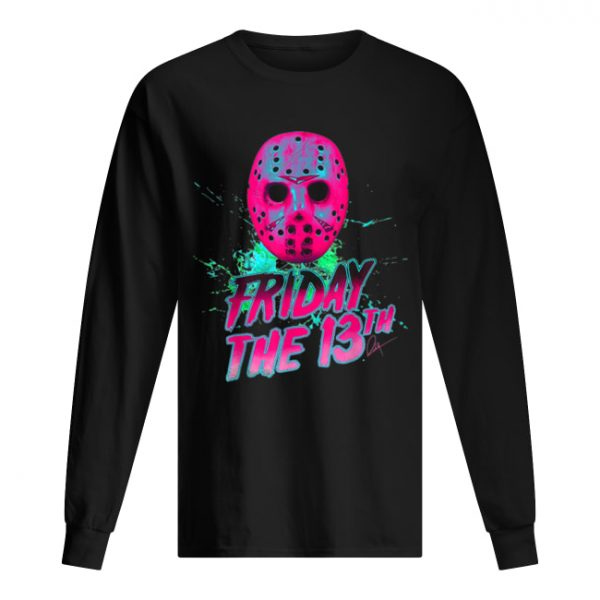Friday 13th Halloween Horror Mask  Long Sleeved T-shirt