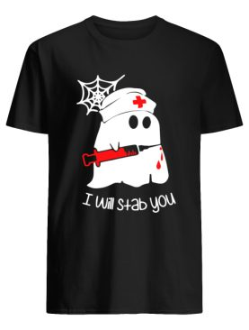 Ghost boo I will stab you shirt