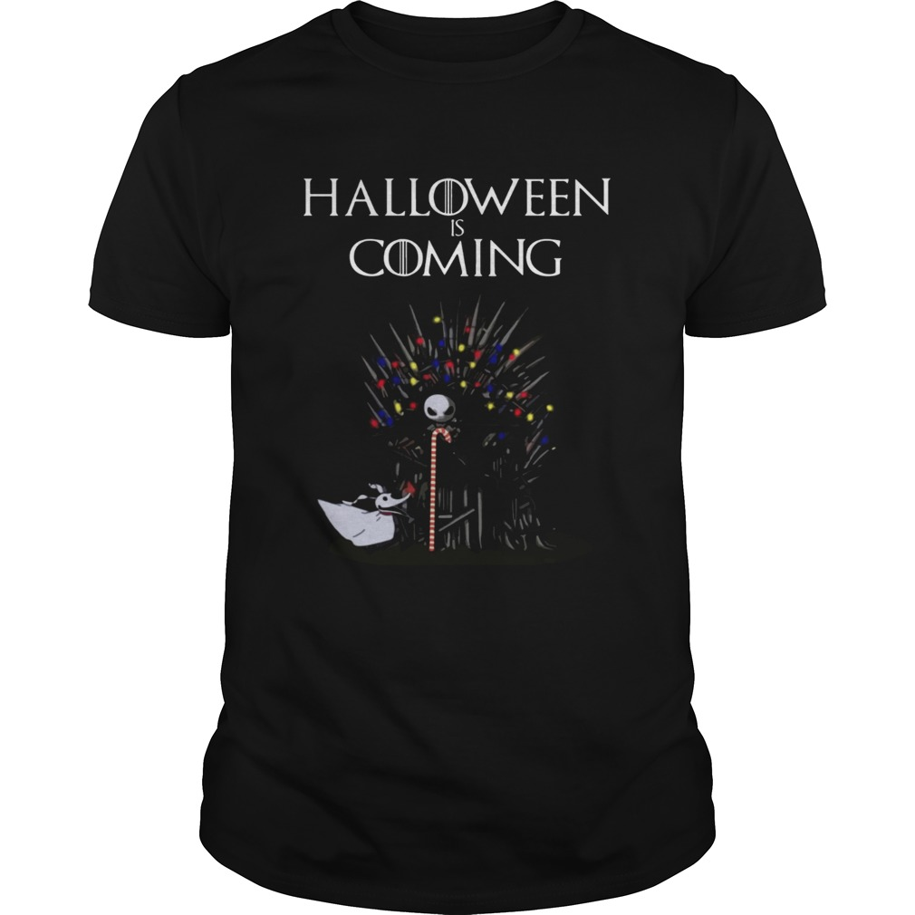 Halloween Is Coming Jack Skellington Game Of Thrones Shirt Unisex