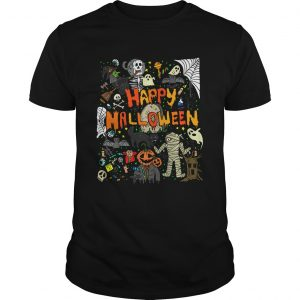 Happy Halloween Scary Retro  Unisex