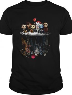 Horror characters movies water mirror reflection shirt