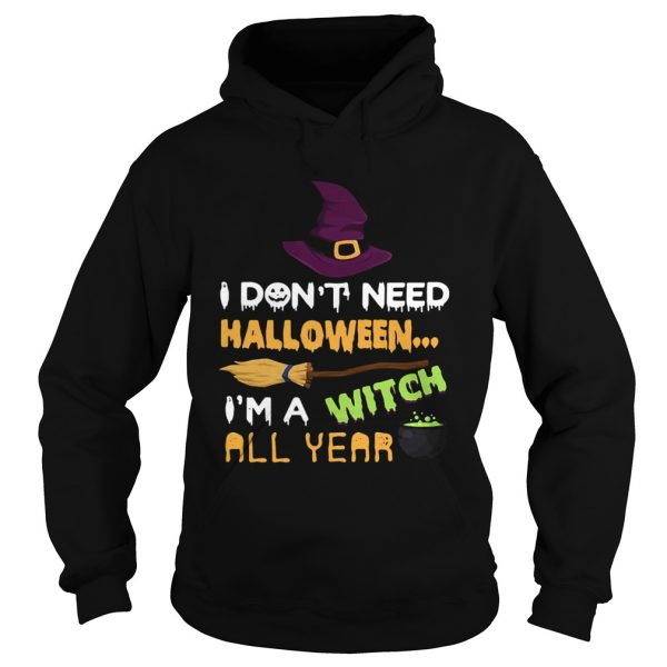 I dont need Halloween Im a witch all year  Hoodie