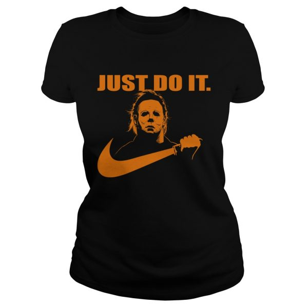 Michael Myers Just do it Nike Halloween  Classic Ladies