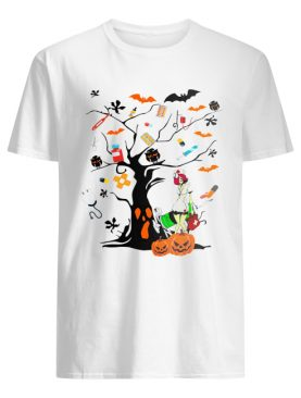 Nurse ghost Halloween tree shirt