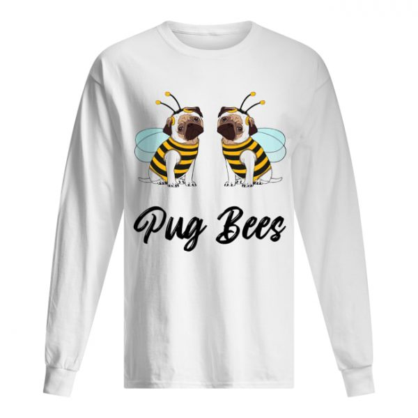 Pug Bees Funny Pug Halloween  Long Sleeved T-shirt
