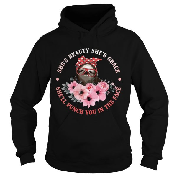 Shes Beauty And Grace She Will Punch You Funny Sloth Lady Shirt Hoodie