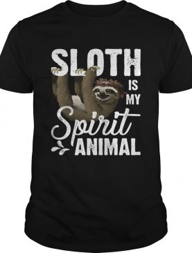 Sloth Is My Spirit Animal Funny Lazy Slow Girls Women T-Shirt