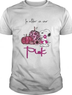 Snoopy and pumpkin in october we wear pink shirt