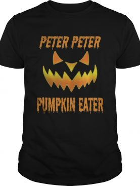 Top Mens Peter Peter Pumpkin Eater Halloween Couples Costume shirt