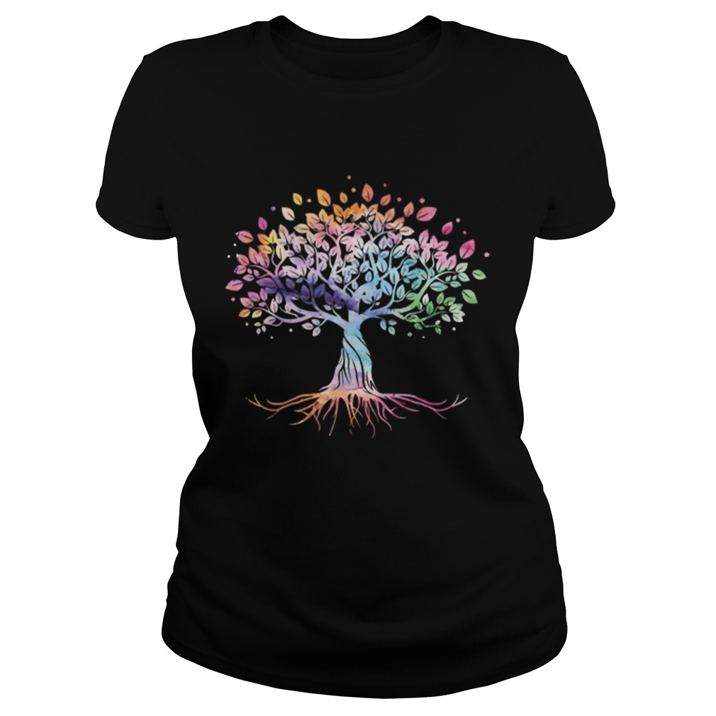 Unique Tree Colorful Life Is Really Good Vintage Classic Ladies