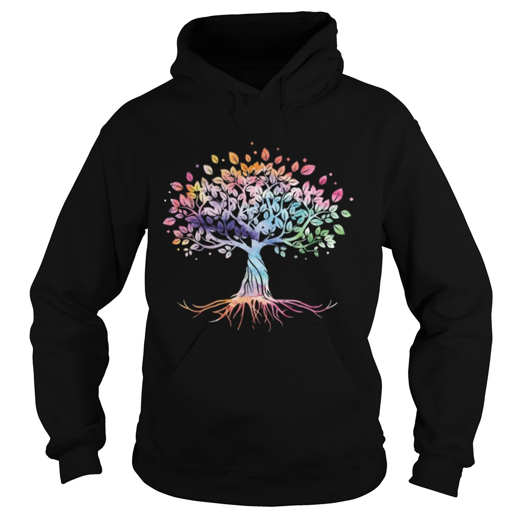 Unique Tree Colorful Life Is Really Good Vintage Hoodie