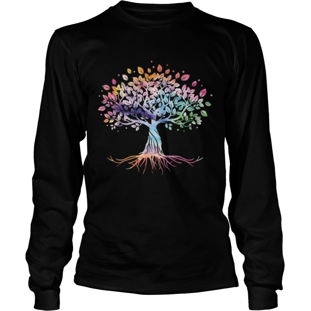 Unique Tree Colorful Life Is Really Good Vintage LongSleeve