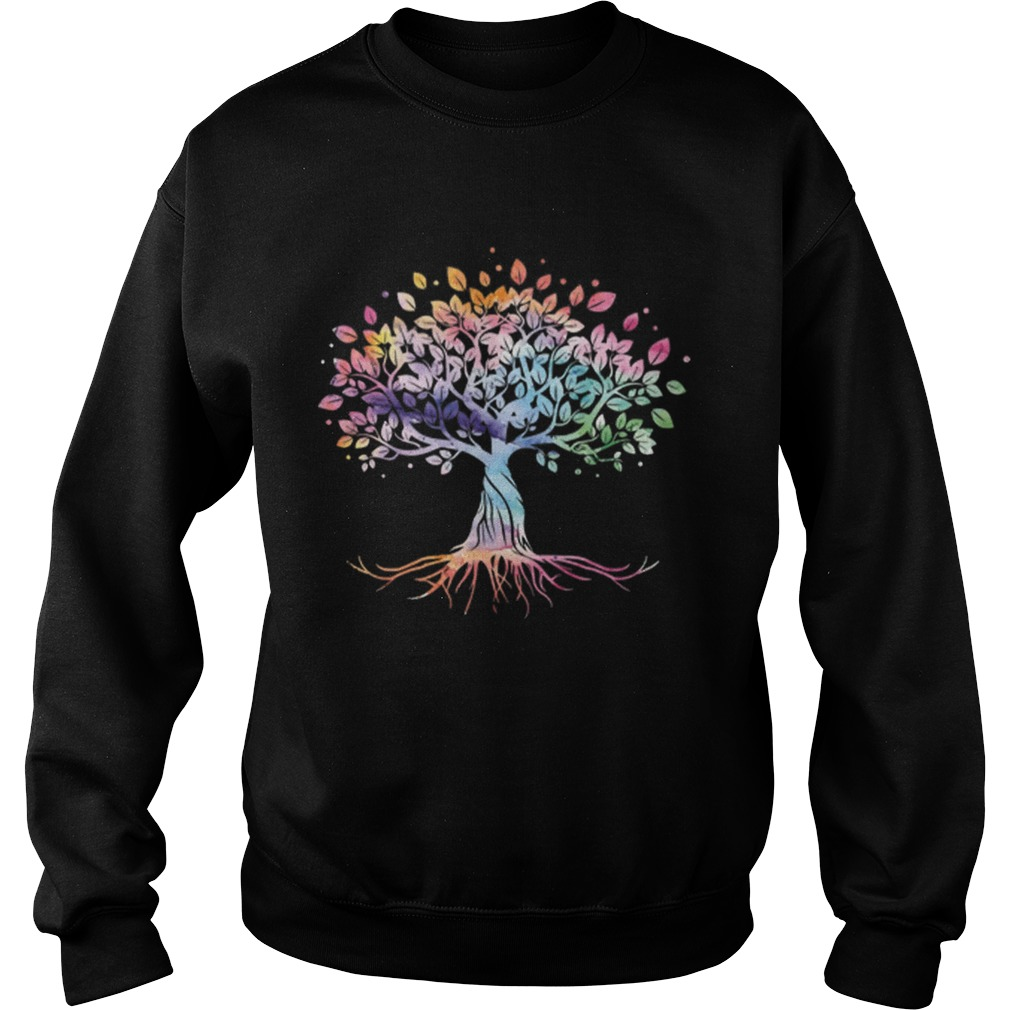 Unique Tree Colorful Life Is Really Good Vintage Sweatshirt