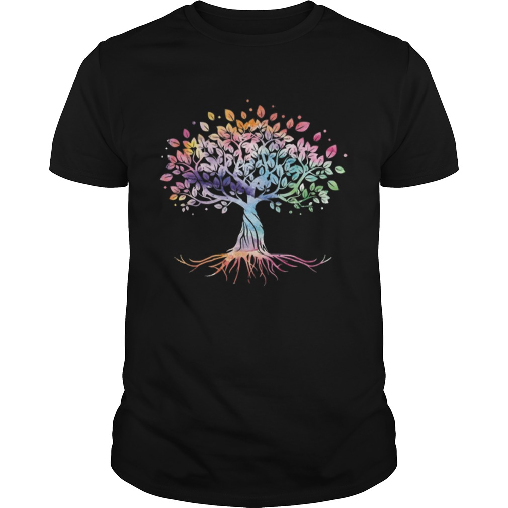 Unique Tree Colorful Life Is Really Good Vintage Unisex