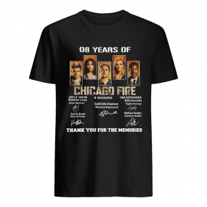 08 Years of Chicago Fire thank you for the memories signature  Classic Men's T-shirt